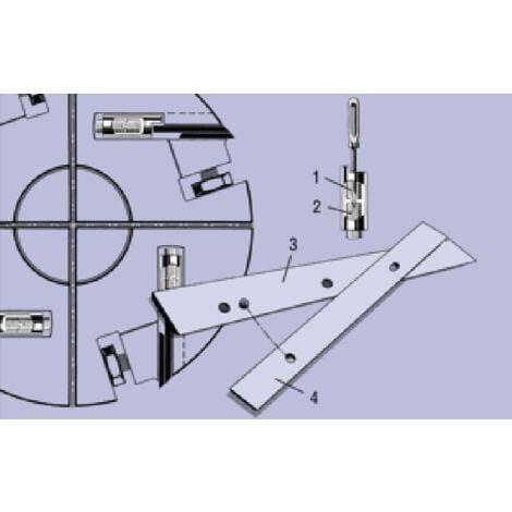 1 x fer barke 410 mm trimétall rabot dégauchisseuse