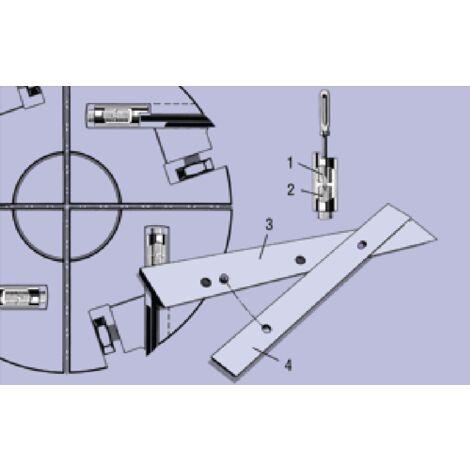 1 x fer Barke TRIMETALL 320mm rabot dégauchisseuse