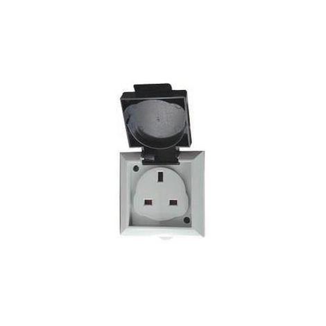 1 x Outdoor Single Gang Plug Socket Dencon 1Gang 13amp Brand New