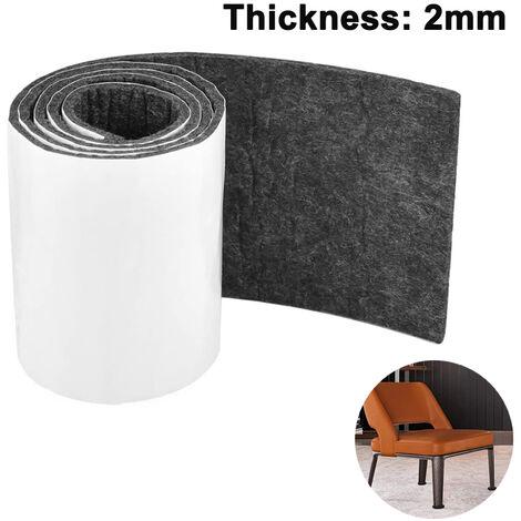 10 * 100cm ruban de feutre auto-adhésif, coupé à la taille bricolage feutre planeurs planeurs de sol protection du sol pour carreaux stratifiés escaliers meubles parquet ---- 2 MM