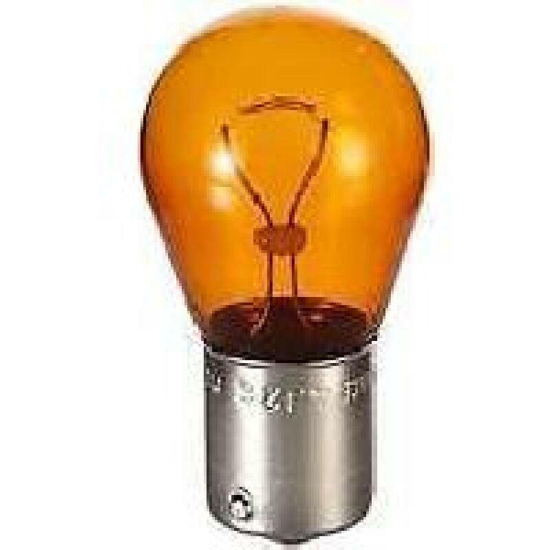 10 ampoules monofil ambre PY21W -carton-