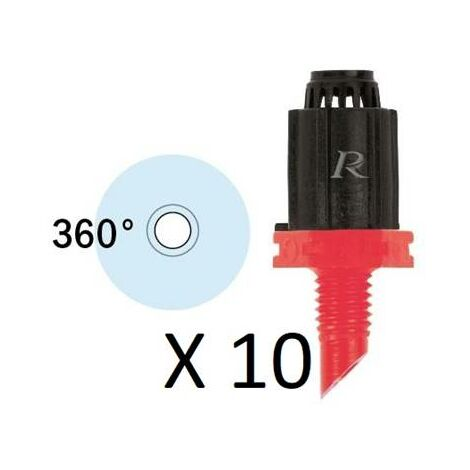 10 Asperseurs 360 degrés à visser pour tuyau goutte à goutte 16 mm copie