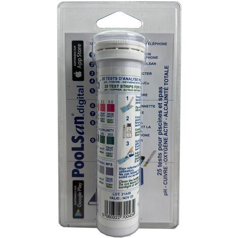 10 bandelettes de test Poolstrip pour analyse eau piscine - Poolsan