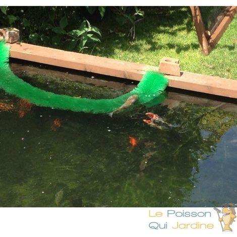 10 Brosses de frai 150 cm, 13 cm De Diamètre, Ponte Kois, Pour Bassins - Vert
