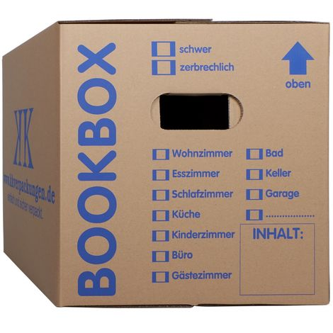 10 Bücherkartons 2-wellig Bookbox Ordnerkartons Archivkartons