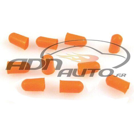 10 Caches Ampoules T5 - Orange - 5mm