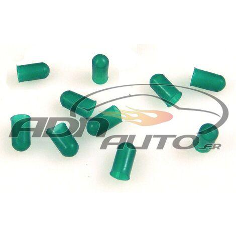10 Caches Ampoules T5 - Vert - 5mm