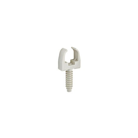 10 Clips de fixation avec cheville pour tube IRL Ø 20mm DEBFLEX Gris - 709071