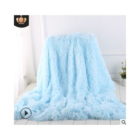 10 Colors Oversized Super Soft Blanket Ultra Plush Velvet Bedding Sofa Blanket Home Office Travel Outdoor (Light Blue, 80x120cm-Blanket)