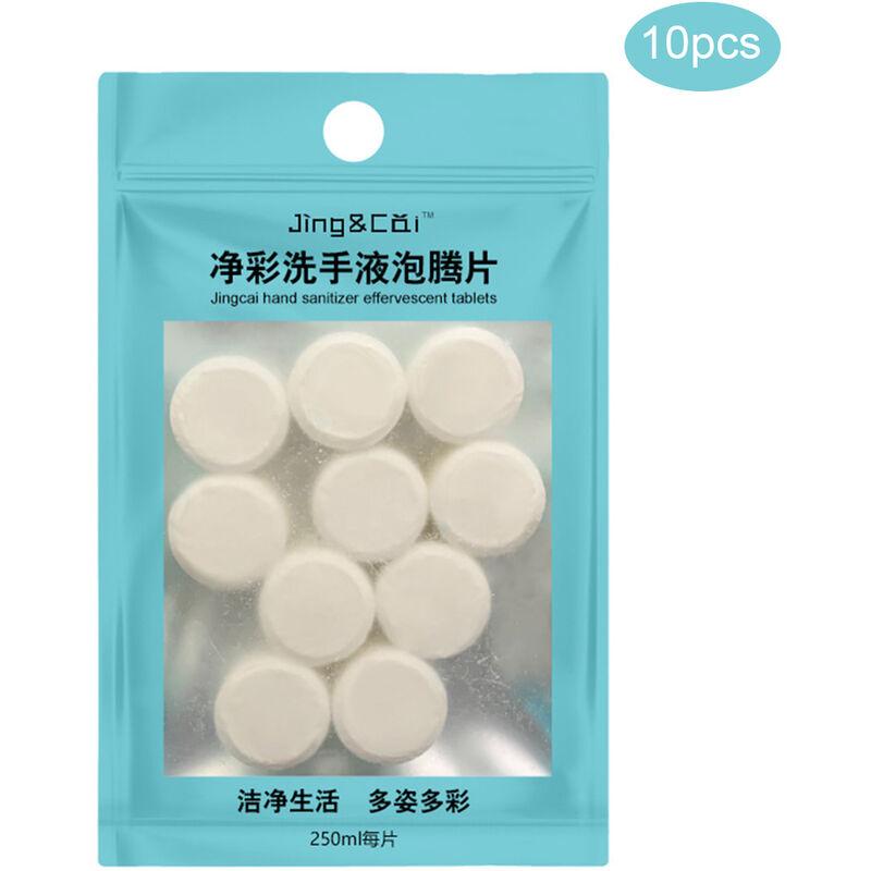Image of 10 compresse di disinfettante per mani solido effervescente disinfettante di tipo schiuma