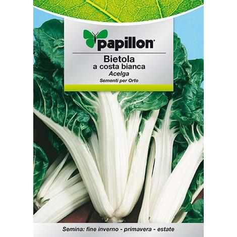 """10 confezioni di semi per orto """"bietola costa bianca"""" papillon"""