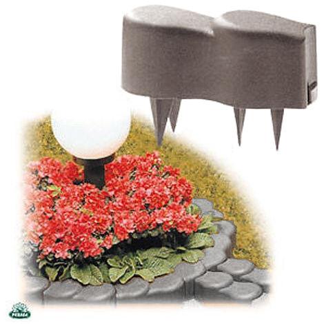 10 cordoli bordure in plastica per creare aiuole piante for Bordure per piscine