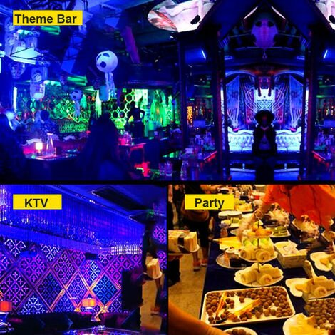10 couleurs fox masque complet neon lumiere Halloween party abat-jour LED (livre sans piles) lumiere bleue