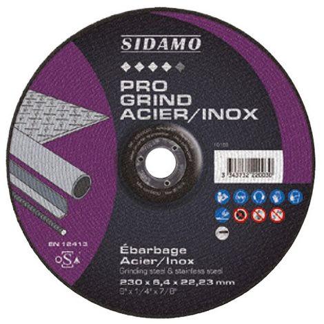 10 disques à ébarber PRO GRIND ACIER INOX D. 76 x 4.8 x Al. 10 mm - Acier, Inox - 10222001 - Sidamo - -