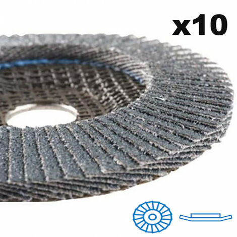 """main image of """"10 Disques à lamelle inclinées Zirconium Ø125mm - Grain 40/60/80 - RB 48024 YX HERMES"""""""