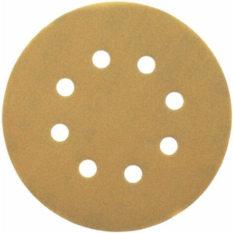 10 disques à poncer Abras Velcro 8 perforations