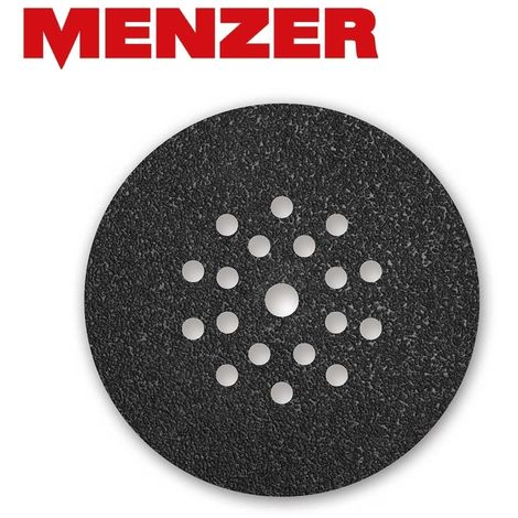 10 disques abrasifs auto-agrippants MENZER p. ponceuses girafes, Ø 225 mm / 19 trous / G16 / Carbure de silicium