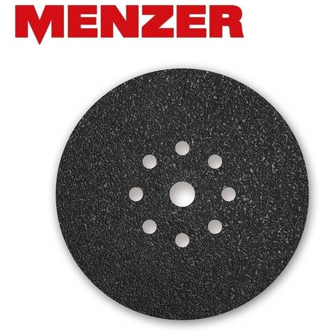 10 disques abrasifs auto-agrippants MENZER p. ponceuses girafes, Ø 225 mm / 9 trous / G16 / Carbure de silicium