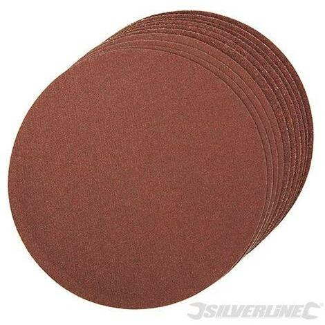 10 disques abrasifs autocollants 150 mm Silverline