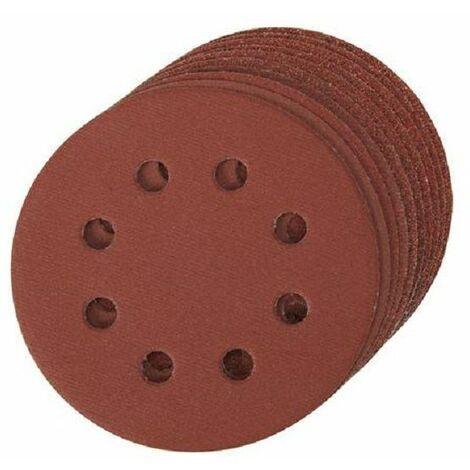 10 disques abrasifs perforés auto-agrippants 115 mm Silverline