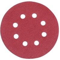 10 disques abrasifs perforés auto-agrippants 125 mm Grain 40, 125 mm