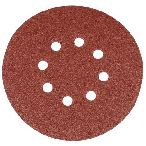 10 disques abrasifs perforés auto-agrippants 150 mm Silverline