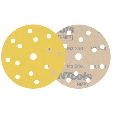10 disques de ponçage velcro grain 150 format 150mm 14+1 trous HMF Pro