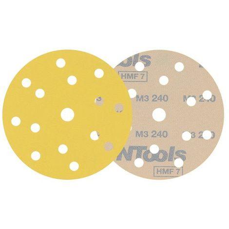 10 disques de ponçage velcro grain 320 format 150mm 14+1 trous HMF Pro