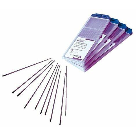 10 electrode tungstene pour soudage tig - pur - diam 1 6 mm -