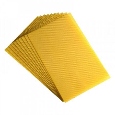 10 feuilles de cire d'abeille gaufrées 'Sélection' pour Corps Dadant