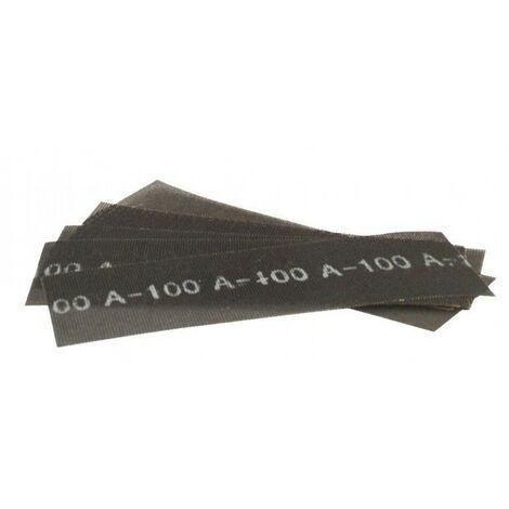 10 FEUILLES DE TREILLIS ABRASIFS 290 x 100 MM Grain 80