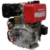 10 HP 7.4 kW Diesel Engine (E-Start, 25.4 mm Shaft, Low Oil Protection, Air-cooled Singel Cylinder 4-stroke Engine, Recoil Start, Alternator, Battery)