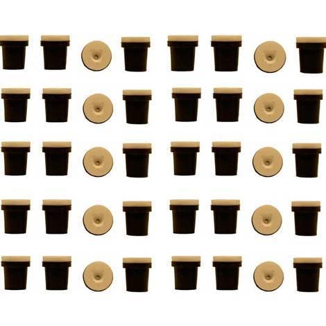 10 jeux de 4 buses ceramique noires pour pistolet sableuse 38-76l a jet libre