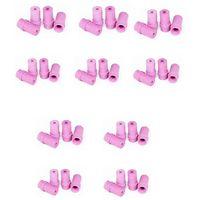 10 jeux de 4 Buses céramique roses pour Pistolet Microbilleuse