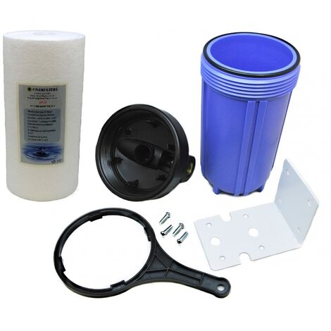 """main image of """"10"""" Jumbo Housing and Sediment Pre Filter Water Filter System 3/4"""" BSP by Finerfilters"""""""