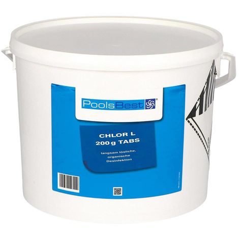 10 Kg PoolsBest® Chlor L 200g Tabletten 92% Aktivchlor langsamlöslich 23887377