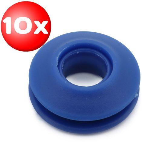 10 Kunststoff Ösen Innen Ø 11,5 mm Rundösen Planenösen Schnapp Öse für Planen