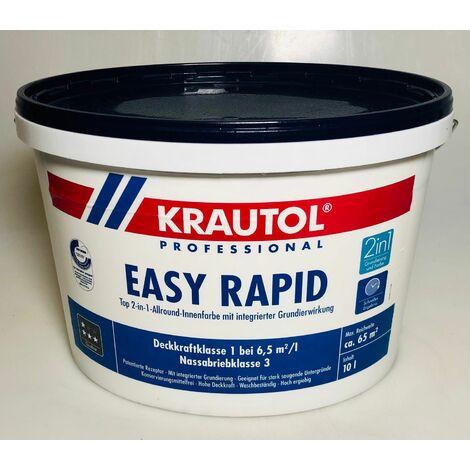 """main image of """"10 l Krautol Easy Rapid 2 in 1 Allround Innenfarbe Weiß Anstrich Beschichtung"""""""