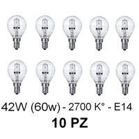 Lampadina tortiglione alogena trasparente risparmio energetico E14  Set 10 Pz.