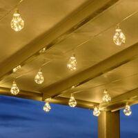 10 LAMPADE LED 60 MICROLED FILO RAME STRINGA LUCI NATALE ADDOBBI ESTERNO CASA (LUCE CALDA)