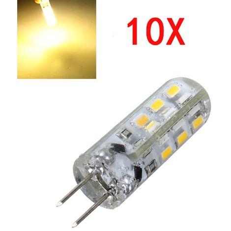 Lampade A Led Faretti.10 Lampadine Led Lampade Attacco G4 Smd 3014 Dc 12v Super Luminose Per Faretti