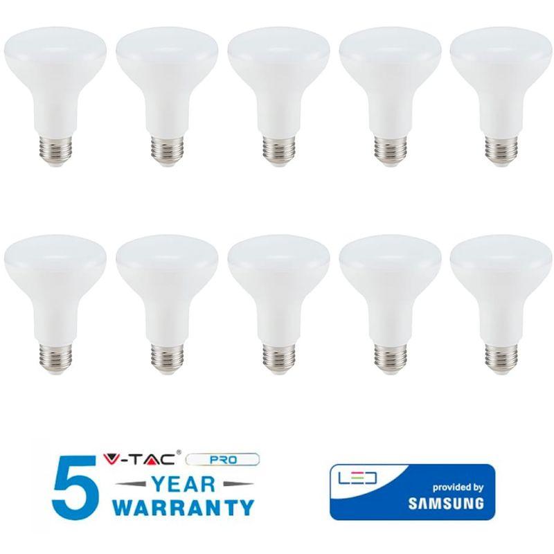 10 LAMPADINE LED SAMSUNG E27 10W CALDA FREDDA NATURALE VT-280-Calda - V-tac