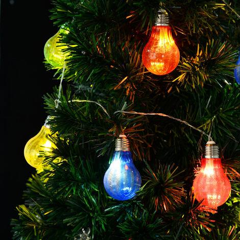 10-LED Battery Operated Bulb String Fairy Lights Xmas Wedding Decoration Light