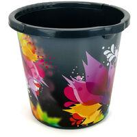 10 Liter Eimer bunte Ttribal Blumen