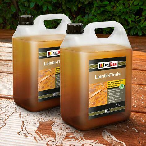 10 Liter Leinöl-Firnis Imprägnierung, Holzschutz doppelt gekochtes Firnis TOP