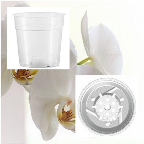 10 Macetas Transparente Especial Orquídeas. 11,4 Cm (0,74 L)
