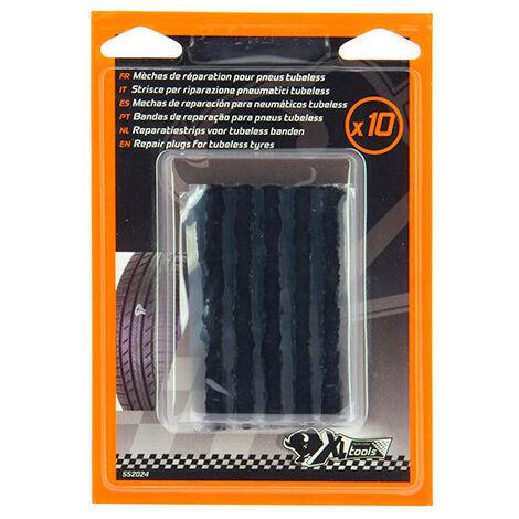 10 mèches autovulcanisantes réparation pneus sans chambre à air - XL Perform Tools