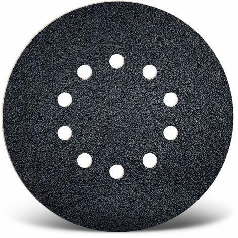 10 MENZER Klett-Schleifscheiben f. Trockenbauschleifer, Ø 225 mm / 10-Loch / K16 / Siliciumcarbid