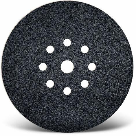 10 MENZER Klett-Schleifscheiben f. Trockenbauschleifer, Ø 225 mm / 9-Loch / K16 / Siliciumcarbid