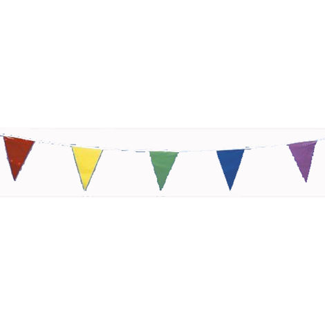 10 Metre Five Coloured Bunting 20 Flags
